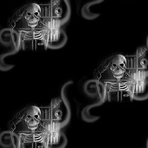 Skeleton in his Study
