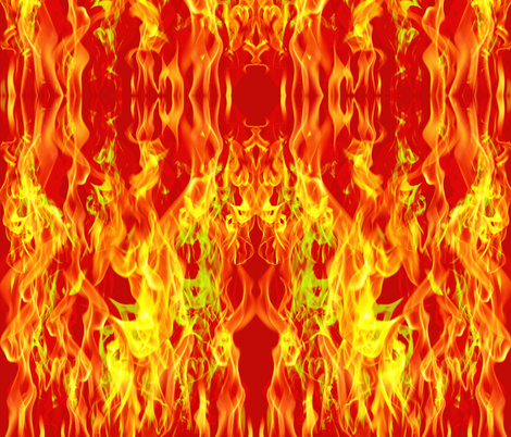 My girl is red hot fabric by whimzwhirled on Spoonflower - custom fabric