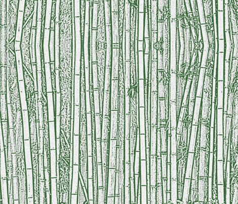 Green Bamboo Forest fabric by pearl&phire on Spoonflower - custom fabric