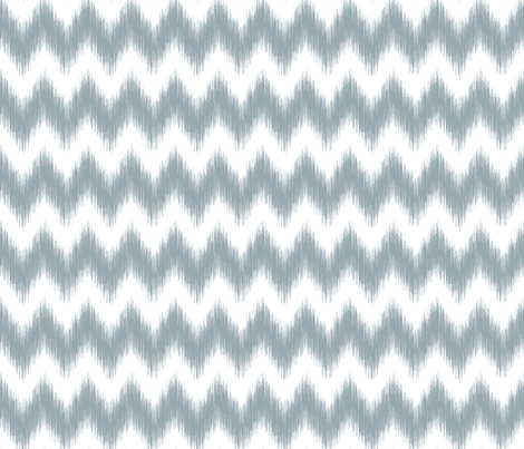 Ikat Chevron Meditative Blue fabric by liskadesign on Spoonflower - custom fabric