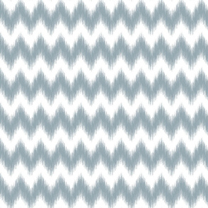Ikat Chevron Meditative Blue