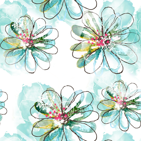 Floating Florals fabric by sara_berrenson on Spoonflower - custom fabric