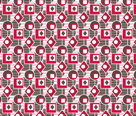 Catching The Light - Retro Kitchen Red fabric by inscribed_here on Spoonflower - custom fabric