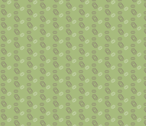 Geo Hex fabric by magwa on Spoonflower - custom fabric