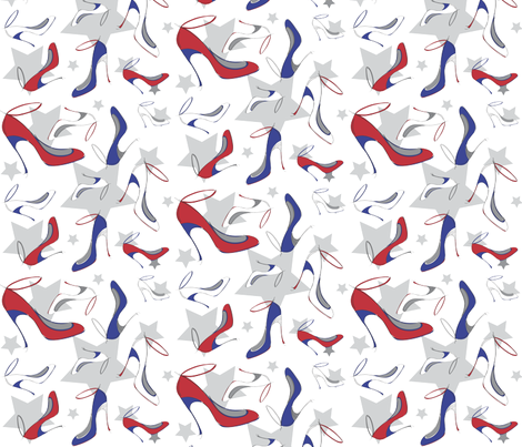 Shoes Red White and Blue fabric by mainsail_studio on Spoonflower - custom fabric