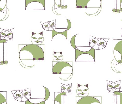geometricats fabric by cinqchats on Spoonflower - custom fabric