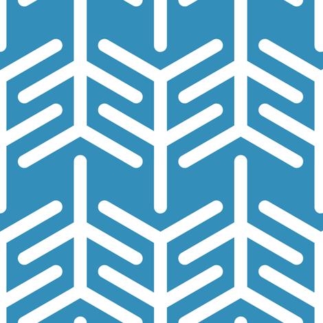 Concertina (Blue -) fabric by nekineko on Spoonflower - custom fabric