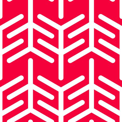 Concertina (Red -) fabric by nekineko on Spoonflower - custom fabric