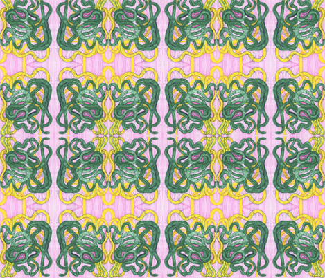 yellow_and_green_snake fabric by stepanic on Spoonflower - custom fabric