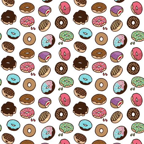 Tiny Donuts fabric by bettyturbo on Spoonflower - custom fabric
