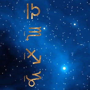 Zodiac Signs Border, L