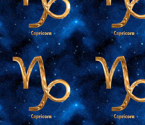 Capricorn Zodiac Sign fabric by animotaxis on Spoonflower - custom fabric