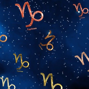 Ditsy Capricorn Zodiac Signs