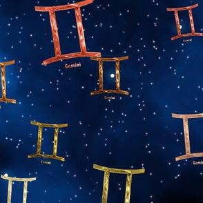 Ditsy Gemini Zodiac Signs