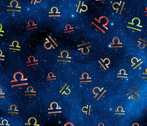 Ditsy Libra Zodiac Signs fabric by animotaxis on Spoonflower - custom fabric