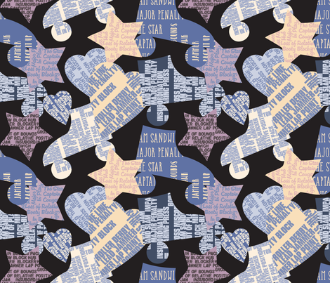 Do you Speak Roller Derby - 2 blue fabric by owlandchickadee on Spoonflower - custom fabric