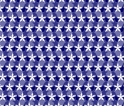 Star_Spots_blue fabric by glimmericks on Spoonflower - custom fabric