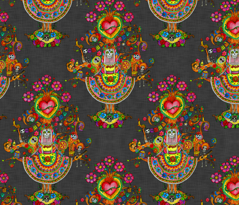 Day of the Dead Tree fabric by dinorahaleatelier on Spoonflower - custom fabric