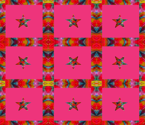 Star on Pink Background fabric by anniedeb on Spoonflower - custom fabric
