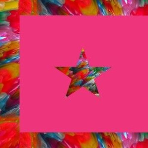 Star on Pink Background