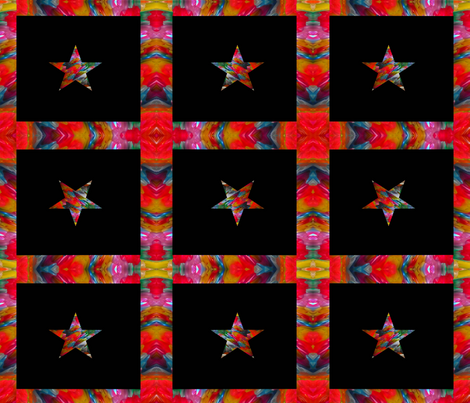 Star on Black Background fabric by anniedeb on Spoonflower - custom fabric
