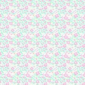 Fleurs et poussins