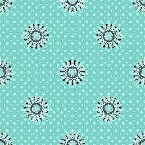 Cactus Flower Blue fabric by joanmclemore on Spoonflower - custom fabric