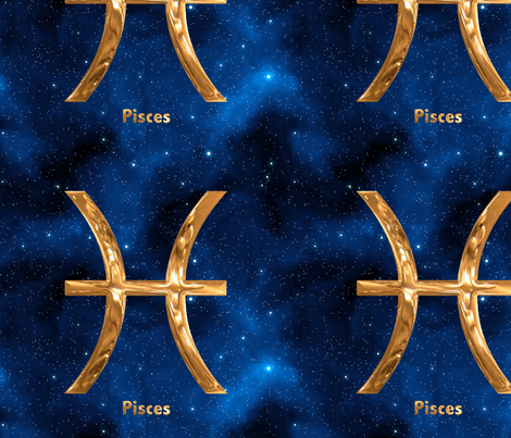 Pisces Zodiac Sign fabric by animotaxis on Spoonflower - custom fabric
