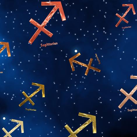 Ditsy Sagittarius Zodiac Signs fabric by animotaxis on Spoonflower - custom fabric