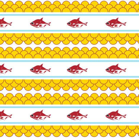 Swedish Fish fabric by alysnpunderland on Spoonflower - custom fabric