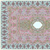 persian knot tea towel lilac
