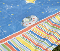Reach for the Stars - Single panel for quilt cover and bunting
