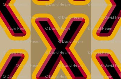 Graphic X (khaki)