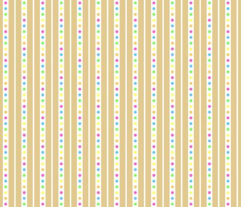 Sprinkle Stripe Cookie fabric by modgeek on Spoonflower - custom fabric
