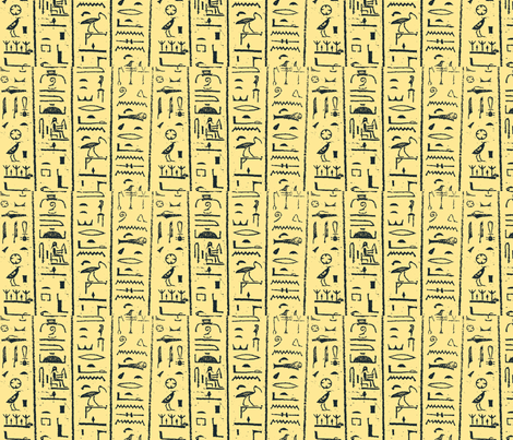 hieroglyphs fabric by blue_jacaranda on Spoonflower - custom fabric