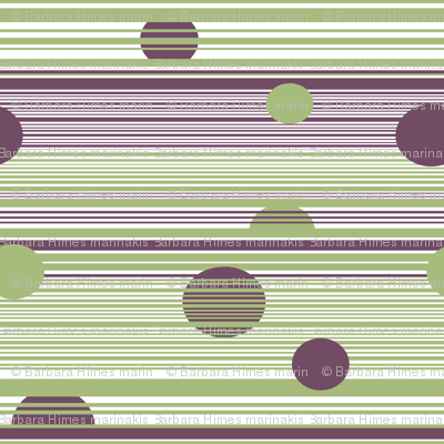Circles Hanging Out with Stripes