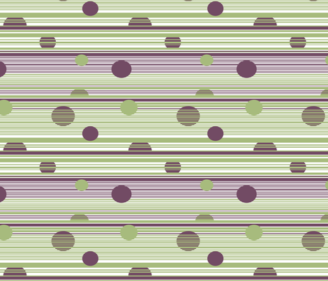 Circles Hanging Out with Stripes fabric by tallulahdahling on Spoonflower - custom fabric