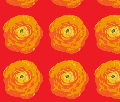 rose_with_red_background fabric by sofiedesigns on Spoonflower - custom fabric