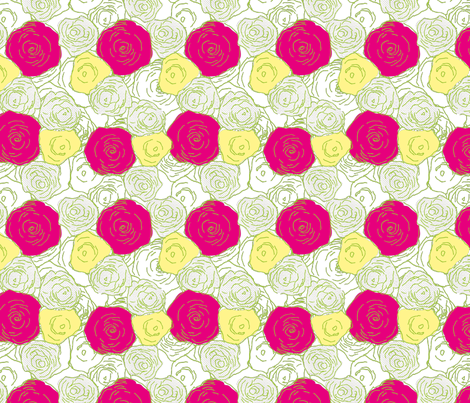roses_are_colourful3-01 fabric by sofiedesigns on Spoonflower - custom fabric