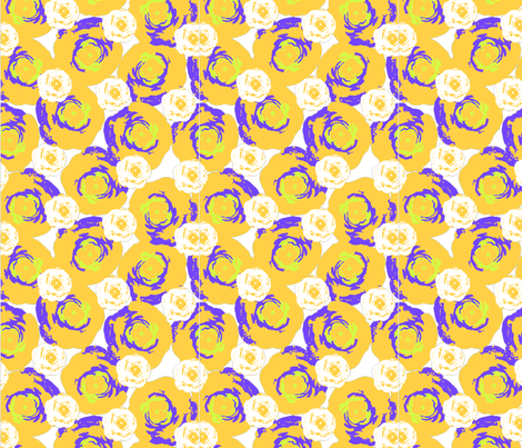 Roses_with_purple_highlights-01 fabric by sofiedesigns on Spoonflower - custom fabric