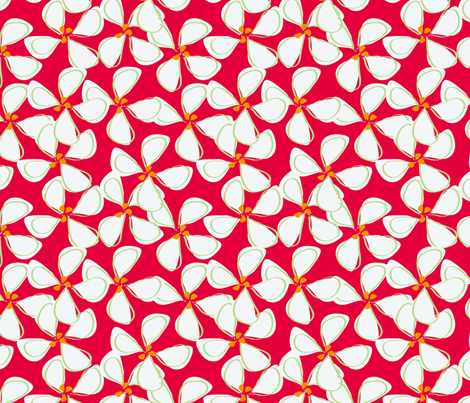 white_flowers_with_red_background-01 fabric by sofiedesigns on Spoonflower - custom fabric