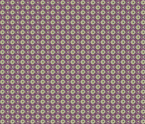 Purple Green Peas fabric by wiccked on Spoonflower - custom fabric