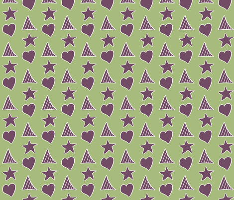 Purple Shapes fabric by wiccked on Spoonflower - custom fabric