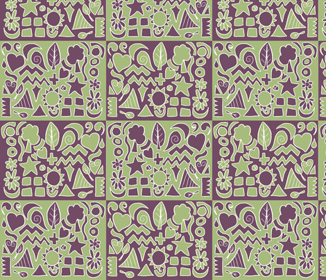 Geometrics fabric by wiccked on Spoonflower - custom fabric