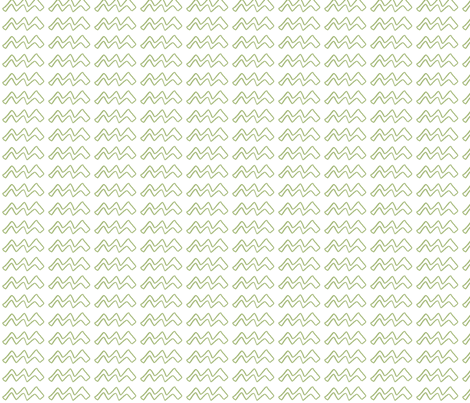 White ZigZag, green fabric by wiccked on Spoonflower - custom fabric