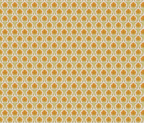 orange retro wallpaper fabric by myracle on Spoonflower - custom fabric