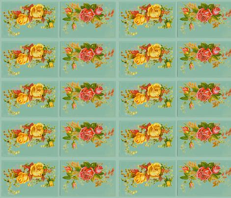 retro flower fabric by myracle on Spoonflower - custom fabric