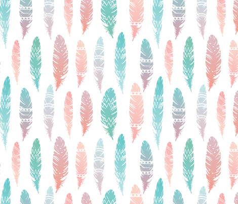 light as a feather fabric by annaboo on Spoonflower - custom fabric