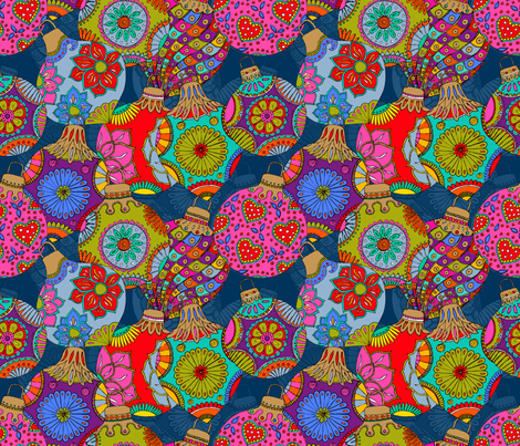 Bohemian Christmas  fabric by leventetladiscorde on Spoonflower - custom fabric