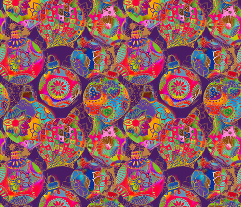 Bohemian Christmas fabric by cassiopee on Spoonflower - custom fabric